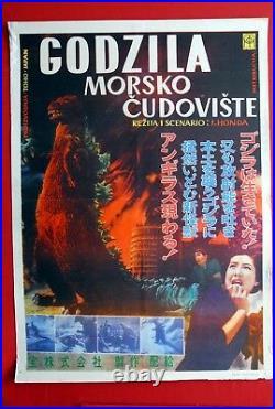Godzilla Sea Beast Toho Japan 1956 Sci-fi Horror Vintage Rare Exyu Movie Poster