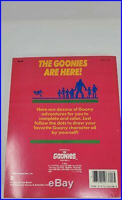 Goonies Dot To Dot (Red) Coloring Book MINT Vintage (1985)