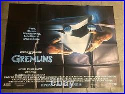 Gremlins Vintage Us Subway Original Movie Poster 45x60 Rare