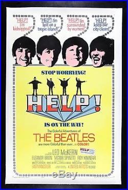 HELP! CineMasterpieces VINTAGE ORIGINAL MOVIE POSTER 1965 THE BEATLES