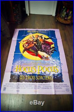 HOCUS POCUS Walt Disney 4x6 ft Vintage French Grande Movie Poster 1994