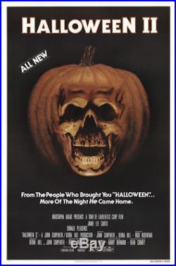 Halloween II Authentic 1981 Original Vintage Movie Poster 27x41 VF Rolled