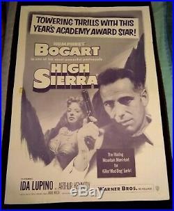 High Sierra 1952R Vintage 1-Sheet Poster (27 x 41) Humphrey Bogart