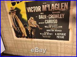 Huge Vintage City Of Shadows Film Noir Movie Poster 3 Sh