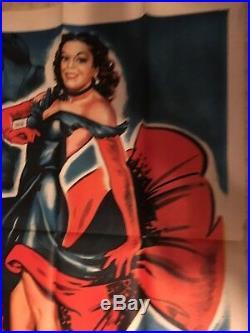 Huge Vintage Tropical Heat Wave Movie Poster 3 Sh Estelita Cuban Star