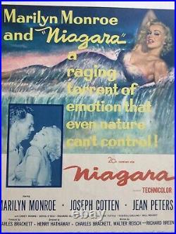 Iconic Marilyn Monroe Vintage Original Movie Poster for Niagara (1953)