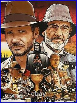 Indiana Jones And The Last Crusade Movie Poster Joshua Budich Art Print sdcc vtg