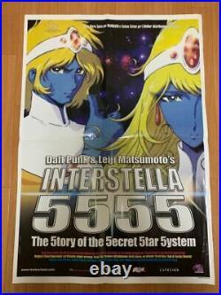 Interstella 5555 Daft Punk Leiji Matsumoto Musical Anime Poster Original Rare