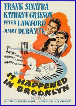 It Happened In Brooklyn Vintage Movie Poster Frank Sinatra 1947