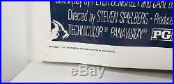JAWS 1975 ORIGINAL MOVIE POSTER 27x41 VINTAGE STEVEN SPIELBERG