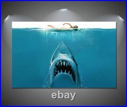 JAWS Vintage Movie Shark CANVAS Art Print A0 A1 A2 A3 A4