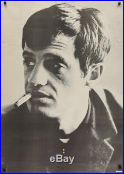 JEAN-PAUL BELMONDO vintage personality poster 29x41 RARE 1967 Rolled