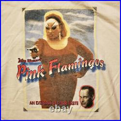 JOHN WATERS PINK FLAMINGOS DIVINE Vintage Movie Poster T-Shirt from 1990s Large