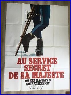 James Bond 007 OHMSS original vintage movie advertising poster quad film