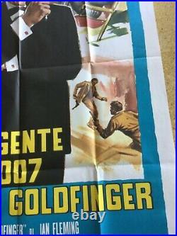 James Bond Goldfinger Vintage Original Movie poster