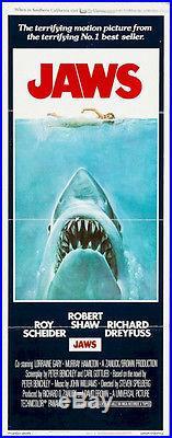 Jaws, 1975 Original Vintage Movie Poster Insert