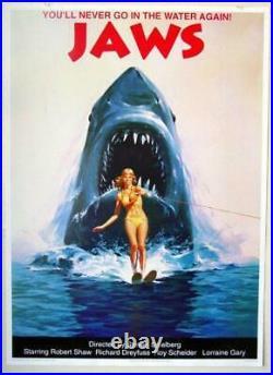 Jaws Vintage Movie Poster 1990's British Import 25 x 35