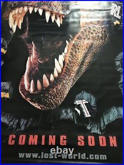 Jurassic Park Lost World Vintage 1998 Original 59 x 98 Vinyl Movie Banner