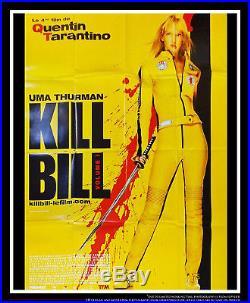 KILL BILL VOLUME 1 4x6 ft Vintage French Grande Movie Poster Original 2003