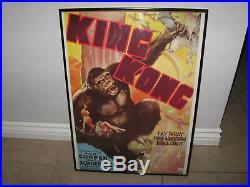 King Kong Vtg Fay Wray 1933 Movie Poster 1976 Reprint Lithograph/print
