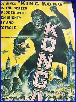 Konga (1961) 3 Sheet Movie Poster 41x81 Huge Original Vintage King Kong