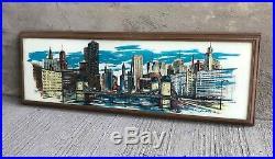 LARGE Vintage Windsor Art Products Picture Chicago Skyline