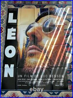 LEON THE PROFESSIONAL 1994 RARE Original Vintage French Movie Poster 4x6 ft