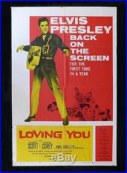 LOVING YOU CineMasterpieces VINTAGE HOLLYWOOD MOVIE POSTER 1959 ELVIS PRESLEY