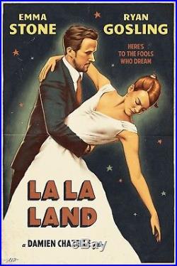 La La Land Movie Poster Alexey Kot Rare Screen Print Vintage NOT MONDO