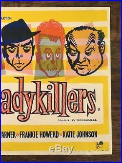 Ladykillers vintage Ealing film movie advertising U. K. H/s quad James Bond 1955