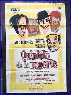Ladykillers vintage Ealing film movie advertising one sheet quad art poster 1955
