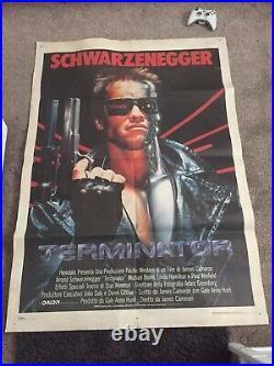 Large The Terminator Original Vintage 1984 Movie Poster UK