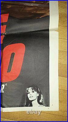 Large Vintage Movie Poster / RED LINE 7000 / (53 1/2 x 40) / 1965
