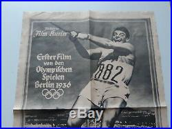 Leni Riefenstahl Olympia vintage movie poster Berlin 1936 Olympic Games