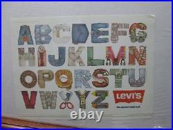 Levi's Alphabet Vintage original cat advertising ad display poster abc's 12804