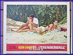 Lot 1965 vintage MOVIE POSTER lobby card THUNDERBALL james bond 007 sean connery