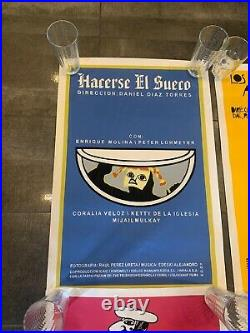 Lot Of Vintage 6 Cuban SILKSCREEN Movie POSTERS Handmade ART Bachs