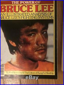 Lot Of Vintage Bruce Lee magazines movie cards books posters and autographs
