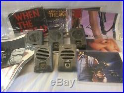 Lot of 5 Vintage Drive In Speakers & 8 Full Sized Original Movie Posters