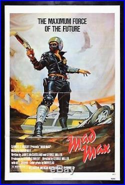 MAD MAX CineMasterpieces ORIGINAL VINTAGE MOVIE POSTER NM-M C9-C10 1979