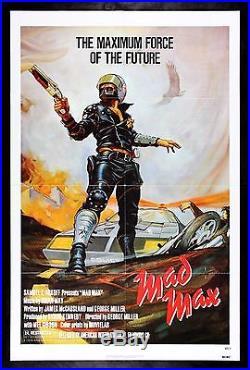 MAD MAX CineMasterpieces VINTAGE ORIGINAL MOVIE POSTER 1979 BIKER COP POLICE