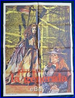 MARIA FELIX LA GENERALA Vintage MEXICAN MOVIE POSTER 1970
