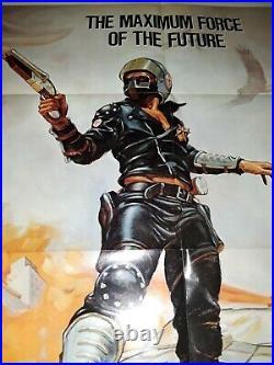 Mad Max 27x41 US Original Vintage One Sheet Film Poster 1SH Mel Gibson 1979 1980