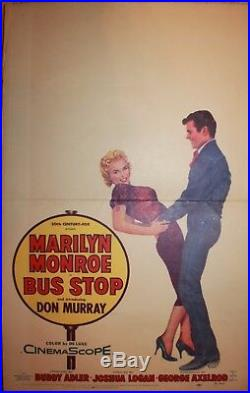 Marilyn Monroe 1956 Bus Stop Original Vintage Movie Window Poster 1956
