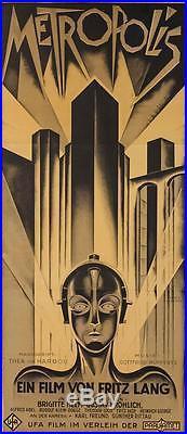 Metropolis 1927 Fritz Lang Vintage 3 Sheet Movie Poster Lithograph S2 Art Ltd Ed