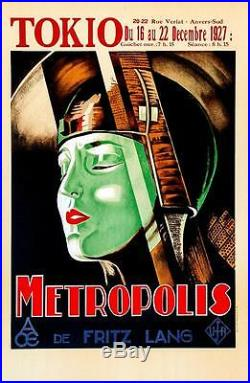 Metropolis Vintage Movie Poster Lithograph Fritz Lang Hand Pulled S2 Art