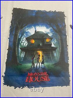 Monster House Movie Promo Shirt Adult M YXL (19.5x26) 2006 Poster Print Vintage