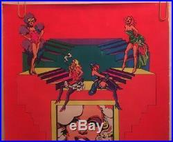 Movie Queens Original Vintage Blacklight Poster Marilyn Monroe Iconic Women 1972