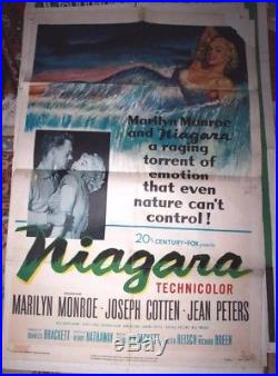 Niagara Original Vintage Marilyn Monroe Movie Poster 1953 1 sheet