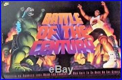 Nike-Barkley vs Godzilla NBA 1992, Original Vintage poster FREE INT. SHIPPING